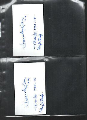 Dave Keon W/ Mapleleafs 1960-75 Auto'ed/signed/auto Index Card 3x5 F Fashion Style 2