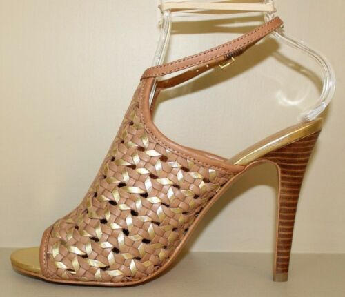Shoes Peep Metalic Heels Ginger 5 Gold 887180526595 Coach M 8 Size Donna Toe Leela awqvqp47
