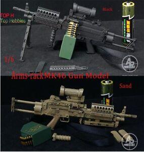 1-6-mk46-Light-Machine-Gun-Black-Sand-2-Farbe-Gun-Modell-fuer-12-034-Soldat-Figur