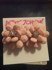 Betsey Johnson Marie Antoinette Flower Button Stud Earrings  PK17