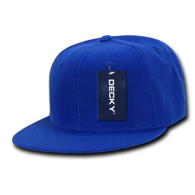 1ce47aba3 Royal Blue Snapback Hat Solid Blank Plain Flat Bill Matching Brim Baseball  Cap