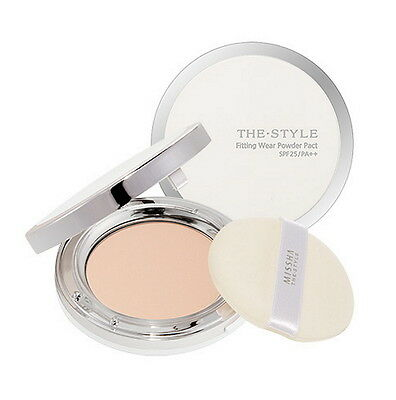 [Missha] The Style Fitting Wear Powder Pact SPF26/PA++ #23 Natural Beige 10g