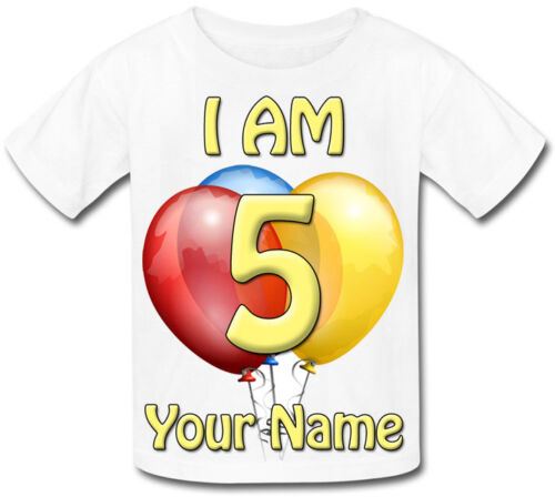 I AM AGE BIRTHDAY PARTY PERSONALISED BABY T-SHIRT GREAT KIDS GIFT /& NAMED