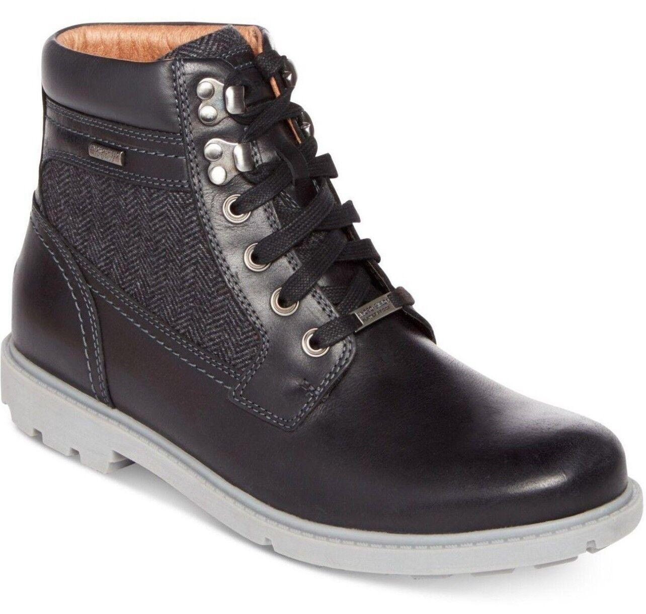 Plain Toe botas Rockport Resistente Buck impermeable Zapatos negro M CH0779