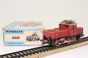 Marklin-3001-h0-e-Lok-br-e6302-rojo-marron-ac-analogico-en-OVP