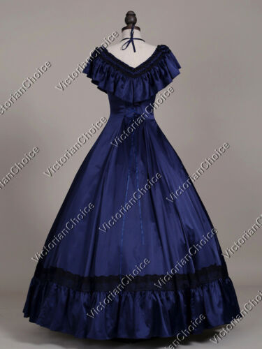 Victorian Southern Belle Old West Saloon Ball Gown Vintage Dress Theater 127