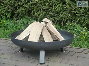 Feuerschale 80 cm Bonn GARTEN FEUERKORB PFLANZSCHALE KLÖPPERBODEN