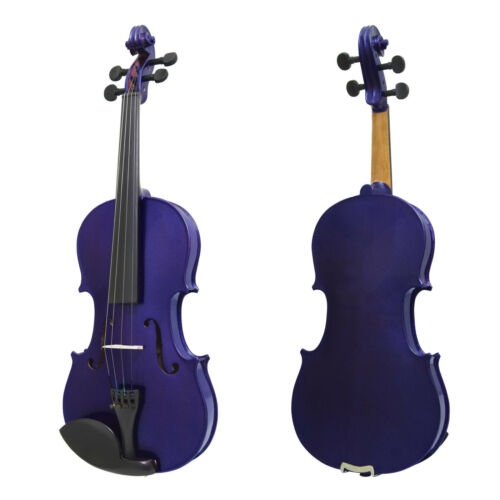 Mendini Solid Wood Violin Size 4//4 3//4 1//2 1//4 1//8