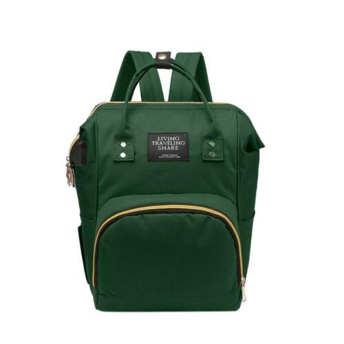 Woman Large Mummy Maternity Baby Nappy Diaper Bag USB Backpack Travel Handbags
