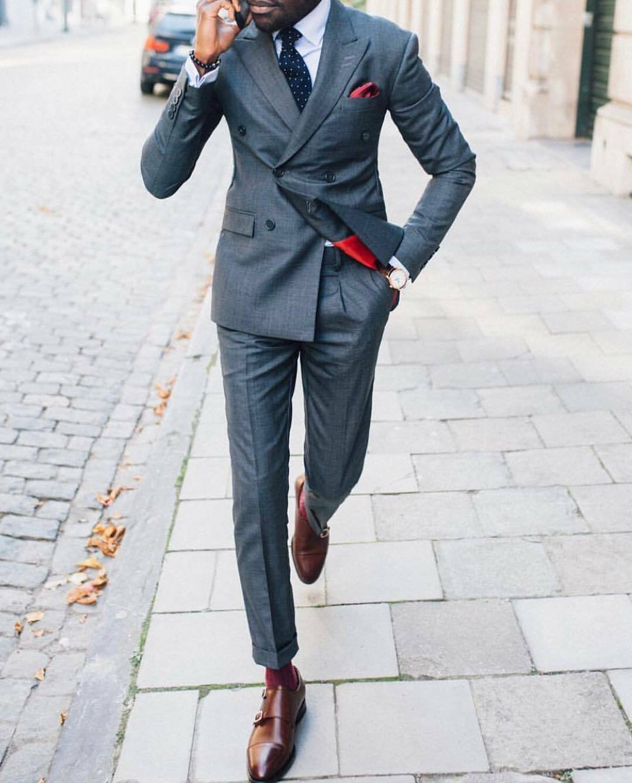 Men's Suit Prom Formal Tuxedo Slim Fit 2 Piece Groom Wedding For Men Peak Lapel