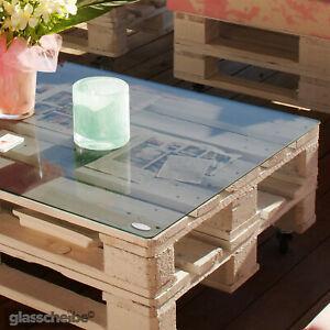 Europalette Tischplatte Glasscheibe Palettenmöbel Glasplatte ...