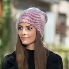 bf577fc3c74 Wine Womens Cashmere Wool Knitted Beanie Slouchy Skull Hat Winter Cap Y88