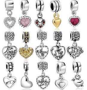 Silver-Pendant-Heart-Charm-Popular-fit-2018-New-European-Bead-Women-925-Bracelet