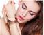 Bracciale-Braccialetto-Donna-Cuore-Moda-Swarovski-ACCIAIO-INOX-ORO-Idea-Regalo miniatura 1