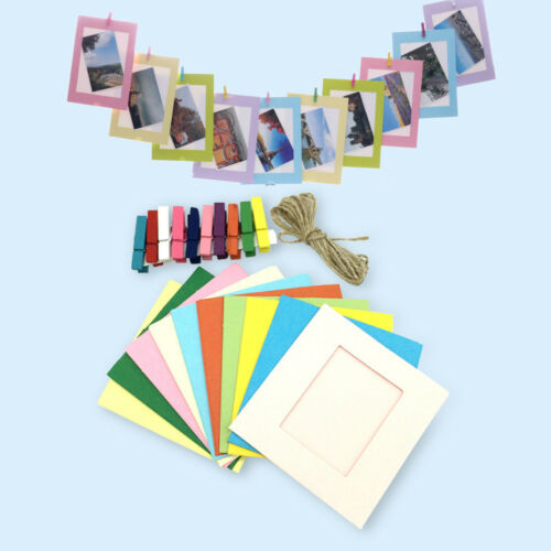 Details about  /10PCS DIY Paper Photo Wall Hanging Picture Frame Album Rope and Clips Home Decor