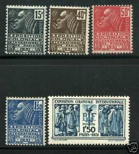 TIMBRE-N-270-274-NEUF-GOMME-ORIGINALE-EXPOSITION-COLONIALE