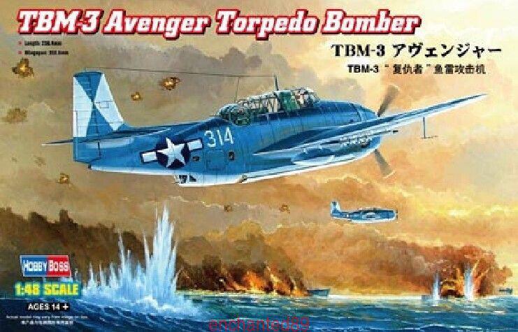Hobbyboss 80325 1 48 TBM-3 Avenger Torpedo Bomber