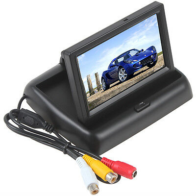 12V 960H x 240V 2-CH Video Input 4.3 Inch TFT-LCD Foldable Car RearView Monitor
