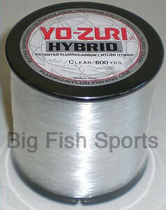 YO-ZURI HYBRID Fluorocarbon Fishing Line 30lb/600yd CLEAR