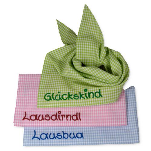 Halstuch Tuch Vichykaro mit Namen Kinder Babys Babyhalstuch Kinderhalstuch