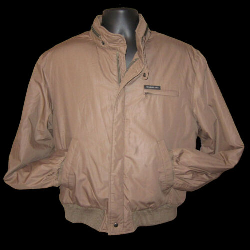 80s Vtg Sz 40S Members Only Tan Cafe Racer Bomber