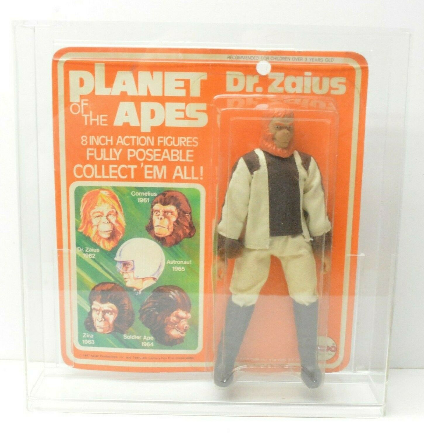 MEGO Planet of the Apes Dr. Zaius Wirkung figure Jahr NIP w  zeigen Fall