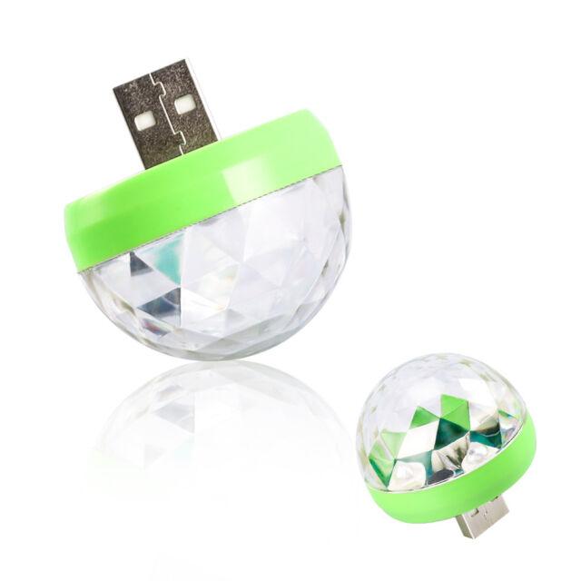 USB Mini LED Disco Stage Light Party Club DJ KTV Magic Lamp Ball For Phone ATCA