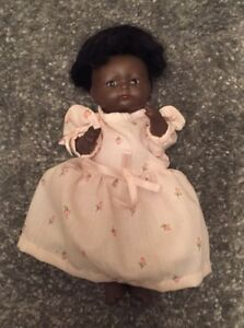 """Antique 1924 Bisque Head & Body Baby Doll 7"""" Beautiful Black Vintage Very Rare Dolls"""