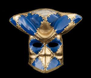 Maschera Casanova Di Venezia Bauta Blu Carnevale Ballo Veneziano VG14 1472