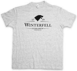Game of Ale Beer Fun Thrones House Stark WINTERFELL 1759 STARK BREW T-SHIRT