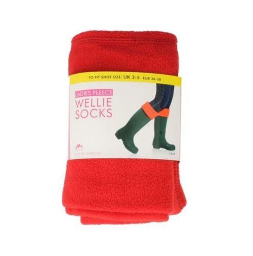 SK205CDU Red Ladies RJM Fleece Wellie Socks The Style