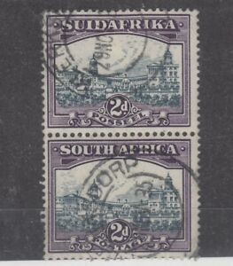 South-Africa-1930-2d-Pair-Airship-Flaw-SG44d-Fine-Used-JK1678
