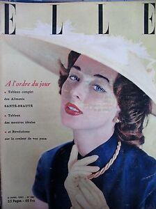 Elle N° 0280 Le Langage Des Yeux La Gourmandise Le Tailleur Imprimé 1951
