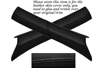 BLACK STITCH 2X WINDSCREEN A PILLAR LEATHER COVERS FITS MERCEDES SLK R170 96-04