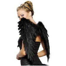 Costume Wings Adult Teen Dark Fallen Angel Raven Swan Halloween Fancy Dress