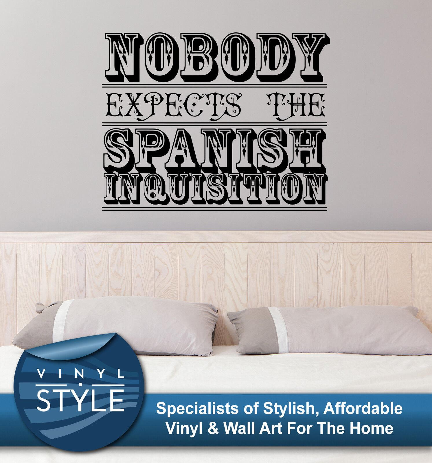 Monty Python Spanish Spanish Spanish Inquisition Dekor Aufkleber Wandkunst Grafik b21d52