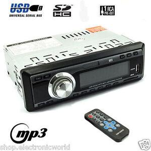 AUTORADIO-STEREO-PER-AUTO-RADIO-FM-AUDIO-MP3-INGRESSO-SD-USB-TELECOMANDO-WIFI