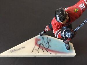 Figurine Nhl Tony Amonte Chicago Blackhawks Étoile du sport Hockey Signée Rare