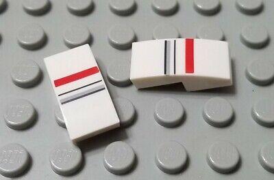 New LEGO Lot of 8 White 2x1 Slopes