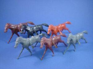 MARX-CIVIL-WAR-FORT-APACHE-ALAMO-COWBOY-CAVALRY-HORSES-6-RECAST-FREE-SHIP
