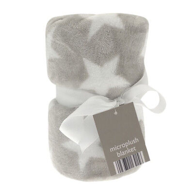 Fleece Buggy Blanket checked Pram for Babies kids Elli /& Raff 100 X 150cm