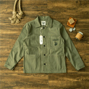 Details about Replica US Army WWII USMC Coat Men's Vintage Military Work  P41 Casual Jacket