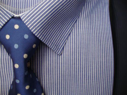 "Rael Brook Camicia Blu a Righe in scatola e Cravatta 18/"" 18.5/"" 19/"" 19.5/"" 20/"" 21/"""