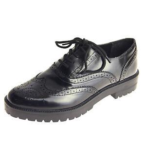 Scarpe donna inglesine Oxford francesine parigine stringate sneaker ... 76e9369e4f8