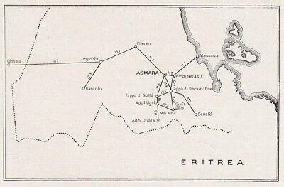 D8362 Eritrea - Itinerari strade grande comunicazione - Mappa d'epoca -  1931 map | eBay