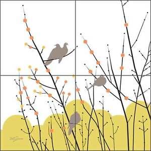 Ceramic-Tile-Mural-Backsplash-Evelia-Morning-Doves-Bird-Art-OB-ES33b