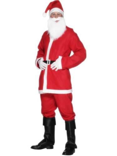 """MENS MEN/'S SANTA SUIT COSTUME CHEST 38/""""-40/"""" CHRISTMAS FANCY DRESS"""