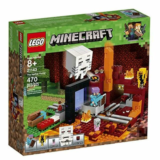 LEGO Minecraft The Nether Portal 21143 Building Kit 470 Pieces