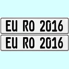 2 Stück KFZ Kennzeichen OHNE EU ZEICHEN Nummernschilder Autoschild BLANKO