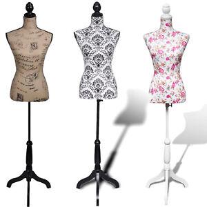 Size 6 Female Dressmaking Mannequin Dummy Dressmakers Tailors Bust Display Torso